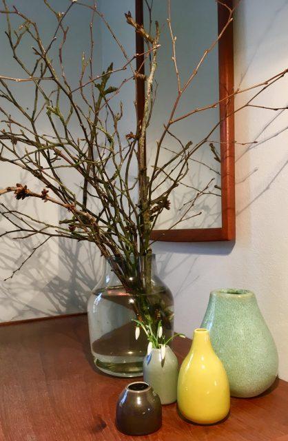 forår og afskårne blomster